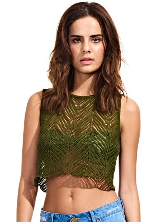 Cropped-Soft-Tricot-Verde-Militar