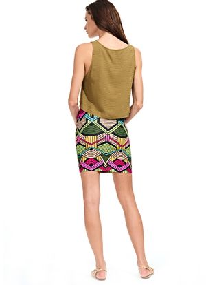 Costas-Saia-Mini-Stretch-Africa-Tribal-Color