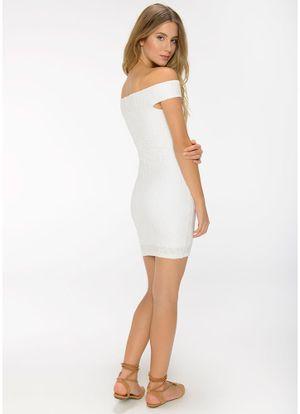 Costas-Vestido-Ombro-Plissado-Off-White