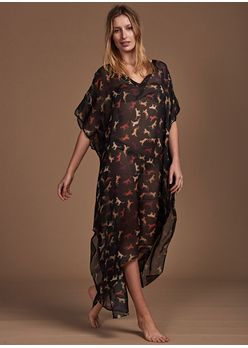 Frente-Caftan-Longo-Nic-Animal-Shadow-Black
