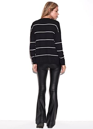 Costas-Malha-Knit-Stripes-Preto
