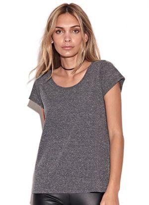 T-Shirt-Gray-Mescla-Preto