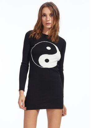 Vestido-Yin-Yang-Preto