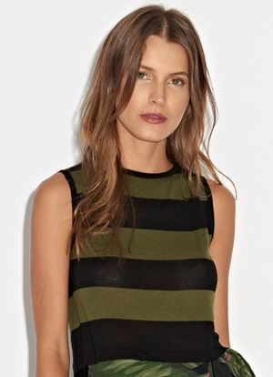 Cropped-Lea-Tricot-Verde-Militar